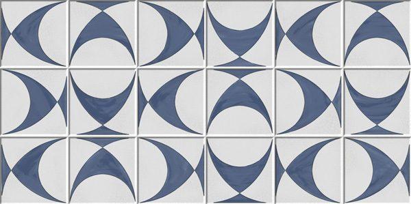 Porcelanato Decorado Brasília Azul Lanzi
