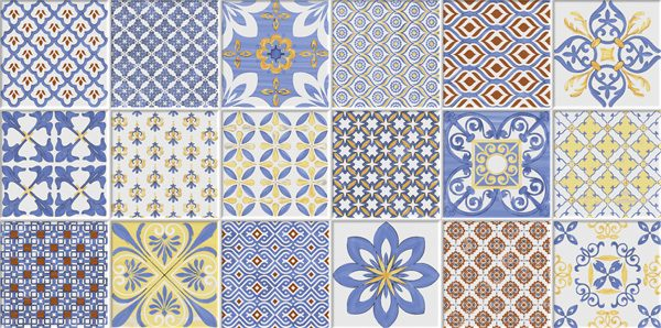 Porcelanato Decorado Estoril Azul Lanzi