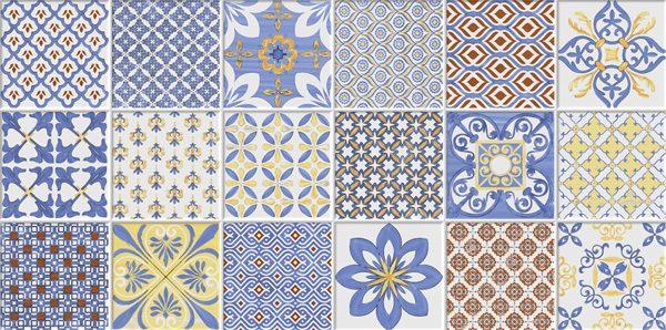 Porcelanato Decorado Estoril Azul Lanzi