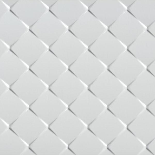 Porcelanato Monocromático Chevron White Lanzi