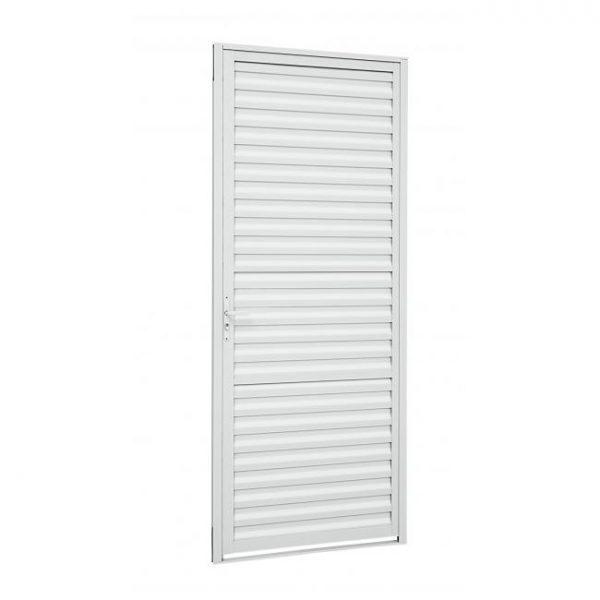 Porta de Abrir Veneziana Alumínio - Branco