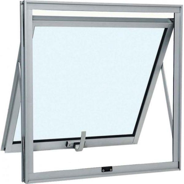 Janela Maxim-ar sem Grade Alumínio - Vidro Mini Boreal - BrancoJanela Maxim-ar sem Grade Alumínio - Vidro Mini Boreal - Branco