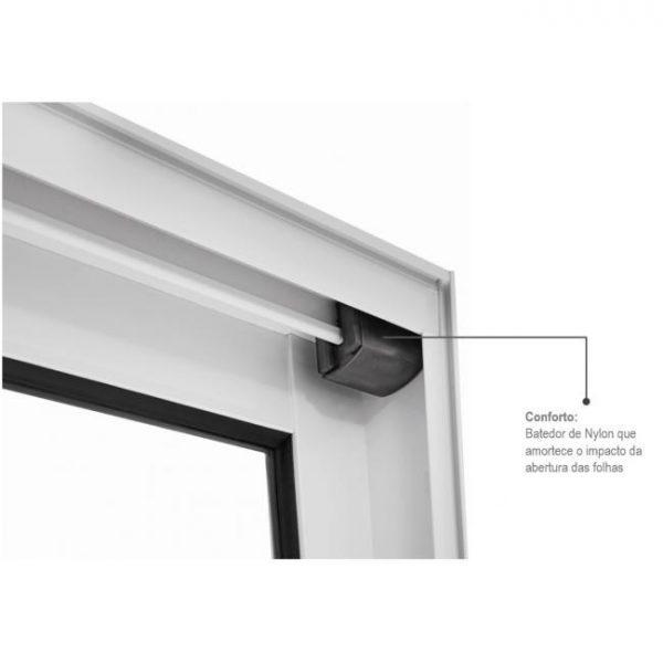 Porta-Balcão de Correr Veneziana - 3 Folhas Móveis Alumínio - Branco