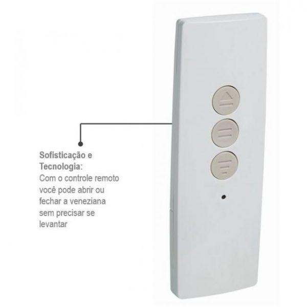 Porta Integrada Veneziana com Controle Remoto (220V) Alumínio - 3 Folhas - Branco Sasazaki