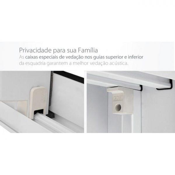 Porta Integrada Veneziana com Controle Remoto Sound Block (220V) Alumínio