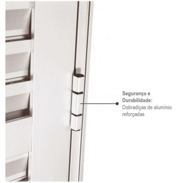 Porta de Abrir Veneziana Ventilada Alumínio - Branco