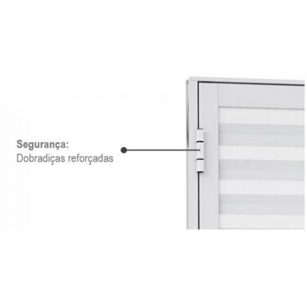 Portinhola de Abrir Veneziana Ventilada Alumínio - 2 Folhas - Branco