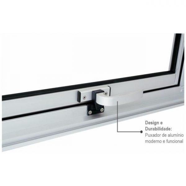 Janela Maxim-ar sem Grade Alumínio - Vidro Mini Boreal - Branco