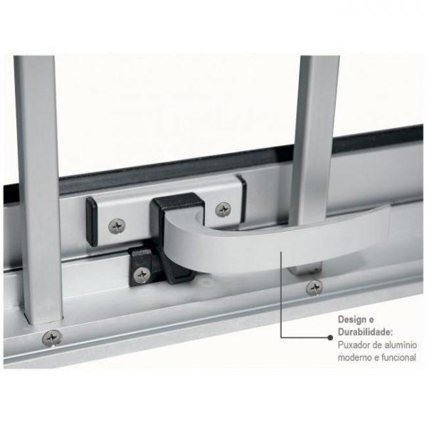 Janela Maxim-ar Grade Classic Alumínio - Vidro Mini Boreal - Branco