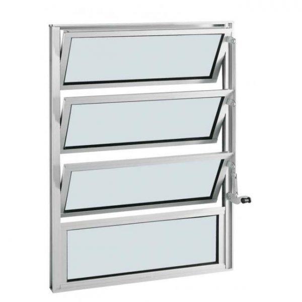 Janela Basculante Alumínio - 3 Básculas - Branco