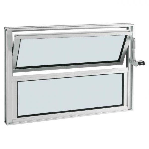 Janela Basculante Alumínio - 1 Báscula - Branco