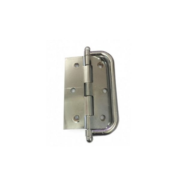 Dobradiça para porta camarão 3x2,5 Cromado (621012)