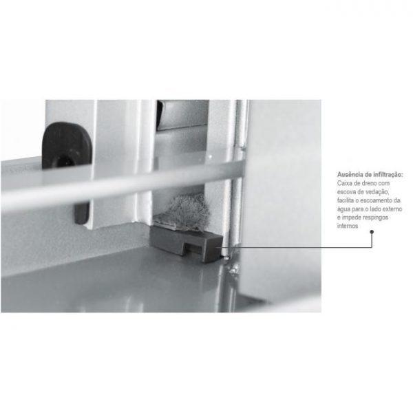 Janela Veneziana Multiflex sem Grade Aço - 6 Folhas - Branco