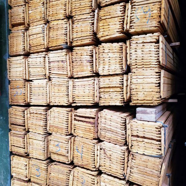 Forro de madeira (lambri) Angelim Champagne 10cm