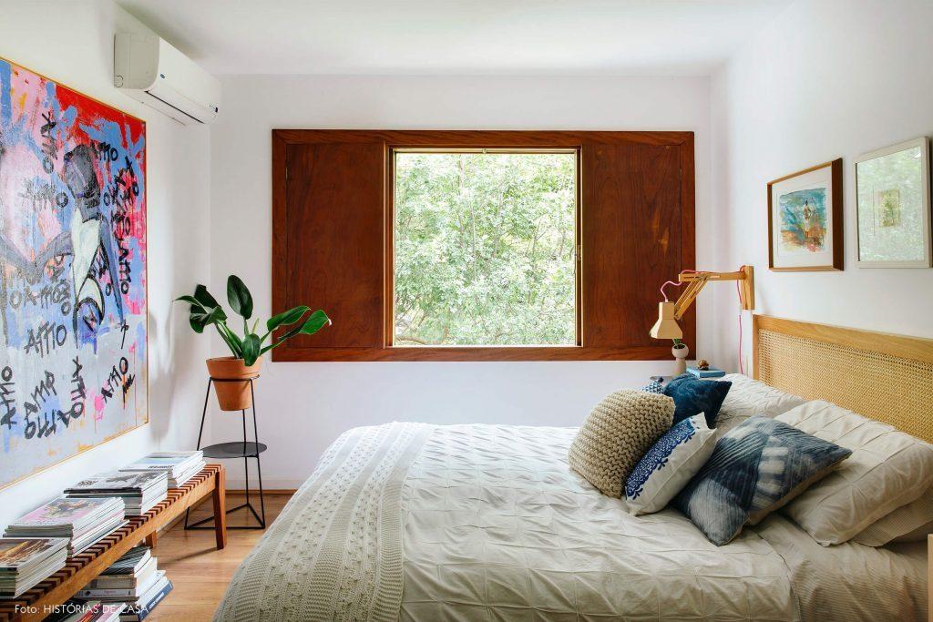 Janela de madeira moderna para quarto