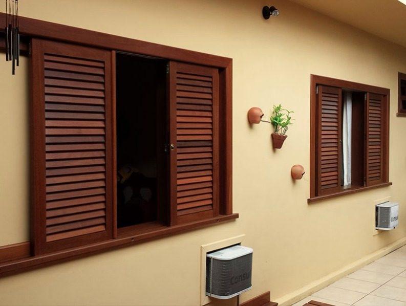 janela de madeira para quarto 110x120
