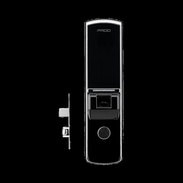 Fechadura Pado Digital Biométrica com Rolete Preto