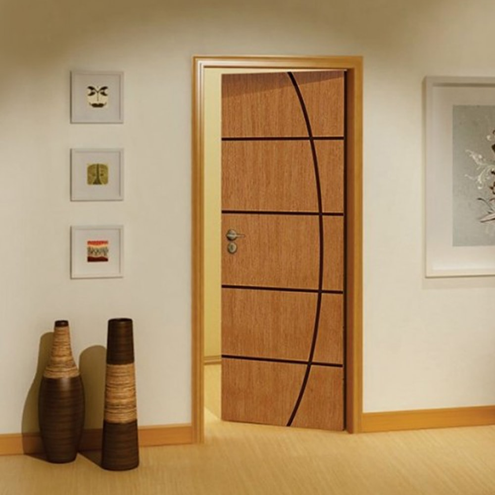 porta de madeira para quarto frisada